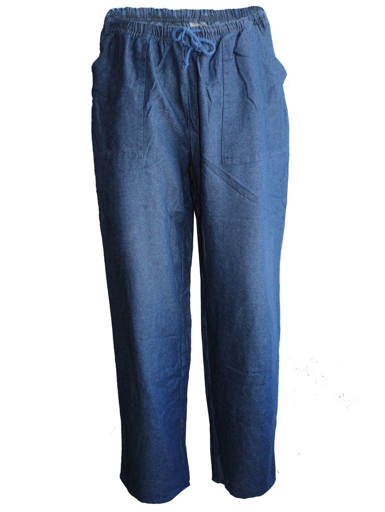 3921ea3900b Дамски прав панталон с ластик и джобове   Vivamoda