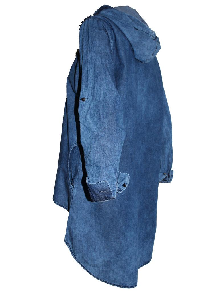 8b77fe18c30 Дамска дънкова риза с цип и качулка удължен гръб. -8%. Previous Следващ