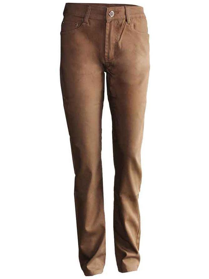 c09409bbb98 Панталон прав тип дънки цвят карамел 29-40 | Vivamoda