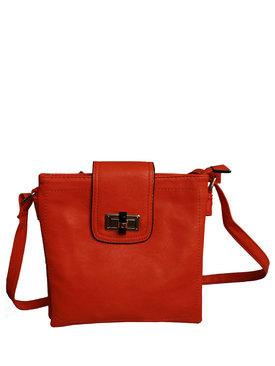 3d36962341e Дамска чанта еко кожа с дълга дръжка оранжево